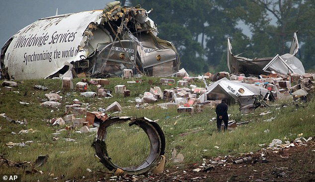 Deadly: Both pilots were killed in the August 2013 crash
