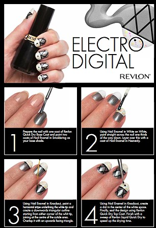 Get the look: Jenny Longworth created five musically inspired nail-art designs for some of the most popular era's in musical history: such as 00's Urban Pop and 00teens Electro Digital
