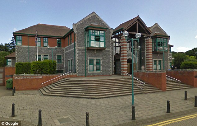 Too late: Prosecutors approached Canterbury Crown Court (pictured) with the new evidence, but the law states any variation in 'the substance of a sentence' must be made within 56 days
