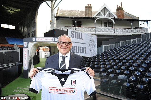 Calm: Felix Magath was unveiled as Fulham's new manager on Thursday and immediately hit back at critics