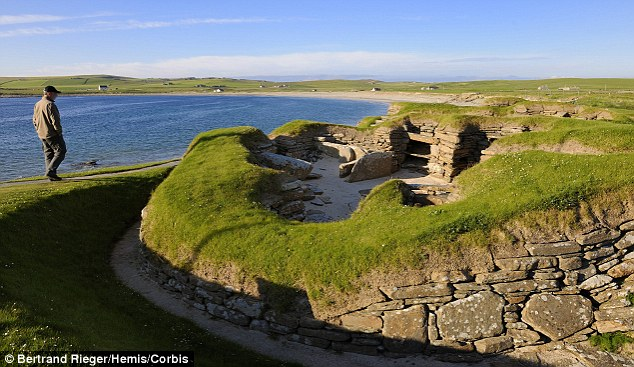 Northern beauty: The rolling countryside and beautiful coastline of Mainland, in the Orkney Isles, helped it bag second place