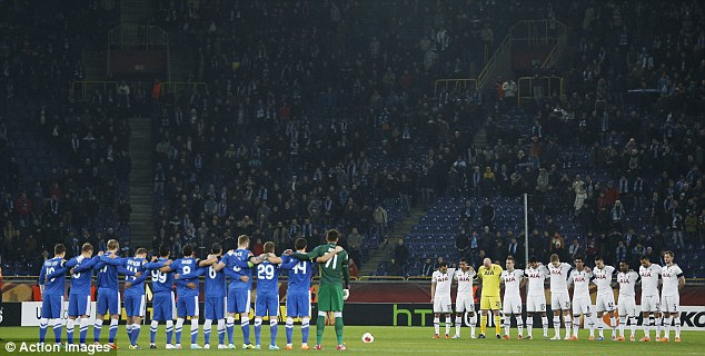Respect: Both teams impeccably observe a minute of silence before kick-off