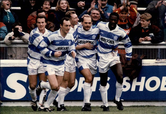 Carry on playing: Wilkins played on into his 40s at QPR and it was there he was first diagnosed with ulcerative colitis