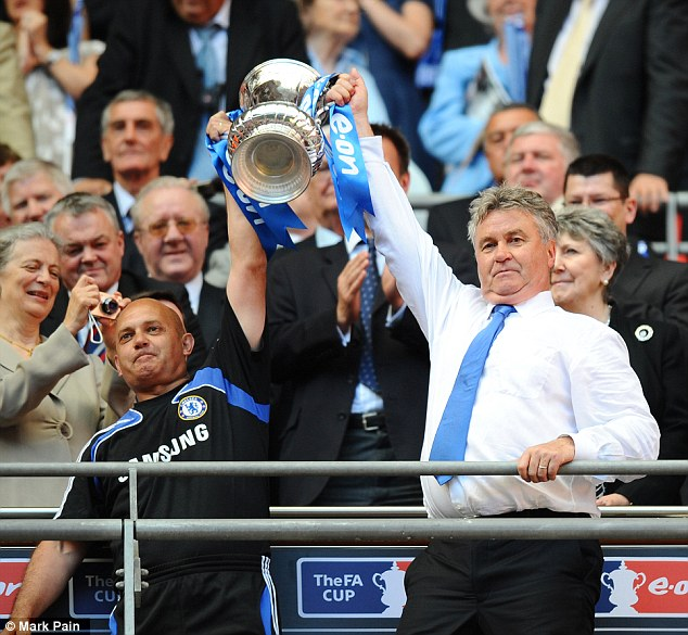 Good times: Wilkins helped Chelsea win the FA Cup under caretaker manager Guus Hiddink in 2009