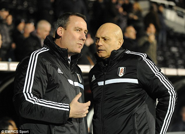 Short stay: Ray Wilkins was sacked by Fulham this week along with head coach Rene Meulensteen despite only being appointed in December