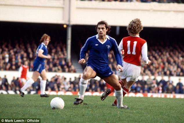 True blue: Wilkins made over 170 appearances for Chelsea in the 1970s