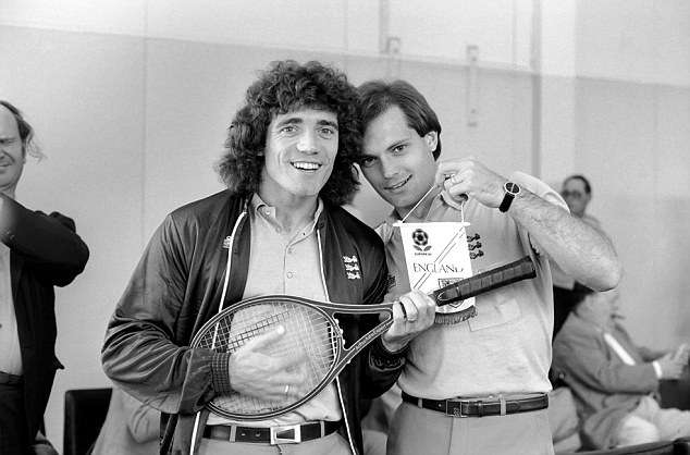 Flying the flag: Wilkins and Kevin Keegan were key players for England at the Euros in 1980