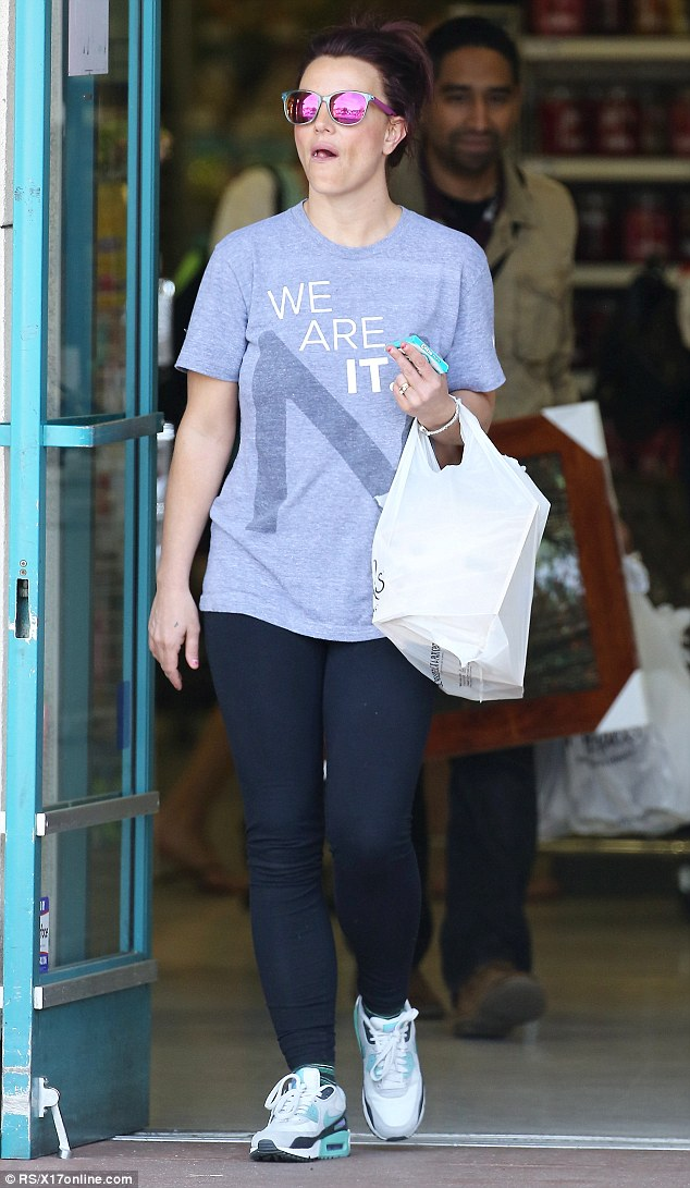Oops, I did it again: Britney Spears, 32, was captured with gum in her hand as she exited a Michael's craft store in Thousand Oaks on Thursday