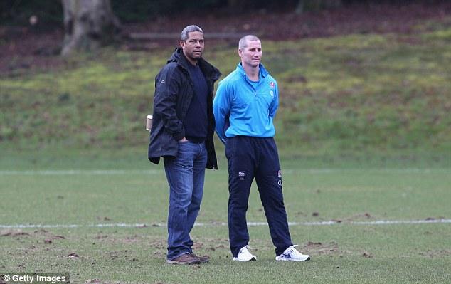 Legend: Bath, England and Lions icon, and BBC pundit Jeremy Guscott with England coach Stuart Lancaster