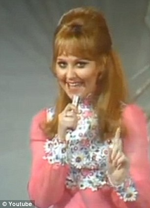 Victorious: Lulu singing in the Eurovision contest 1969. She won with song Bomm Bang-a-Bang