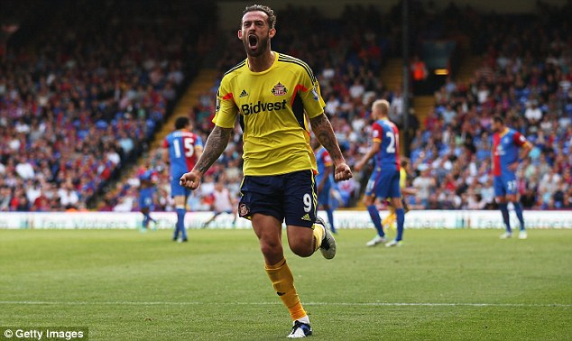 Time to shine: Steven Fletcher is set to get a chance to impress for Sunderland at Arsenal