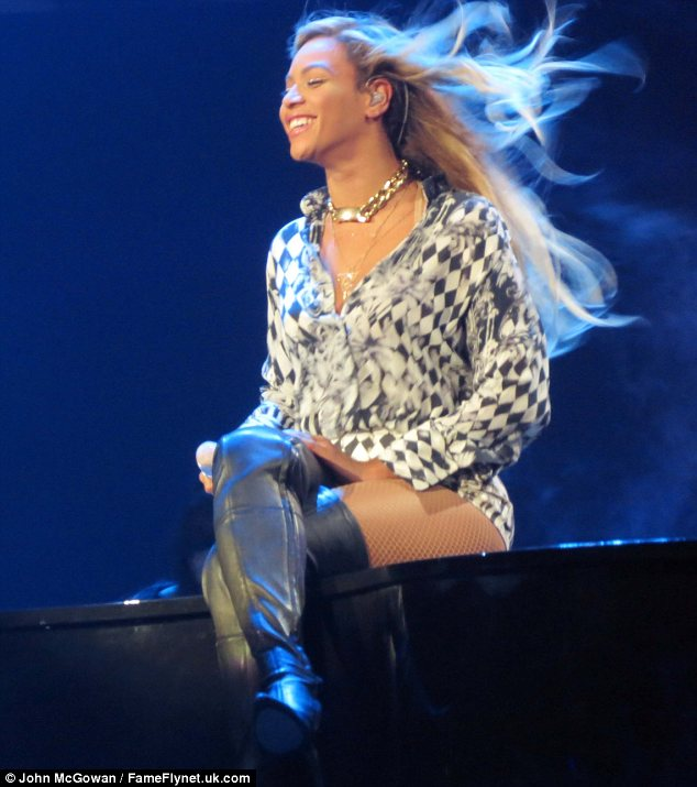 Wardrobe change: Beyonce showed off an array of different outfits as she treated fans to an extravaganza in Glasgow