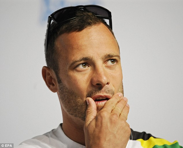 Nervous wait: New evidence means Oscar Pistorius may avoid conviction after he shot dead his girlfriend Reeva Steenkamp. Pistorius claims it was an accident, fearing it was an intruder in his home