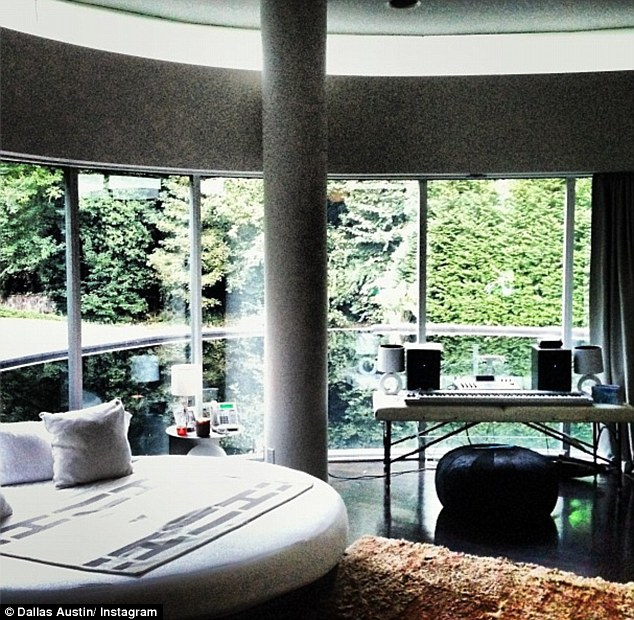 Ready for take-off: Music producer Austin said the home was inspired by sci-fi character Buck Rogers