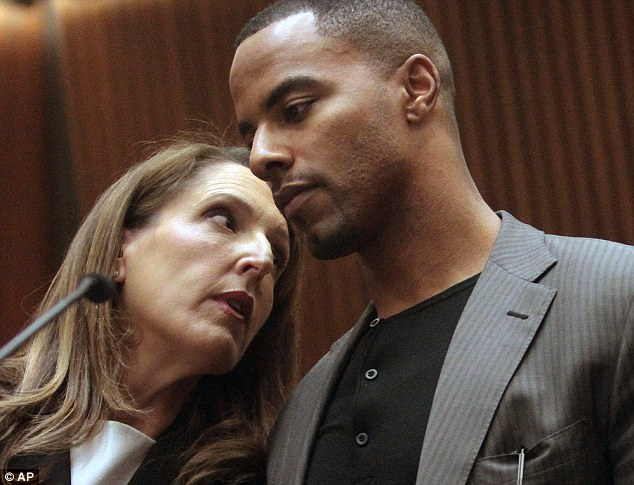 Facing jail time: Former NFL safety Darren Sharper appeared in Los Angeles court Thursday to face charges of drugging a raping two women at a night club