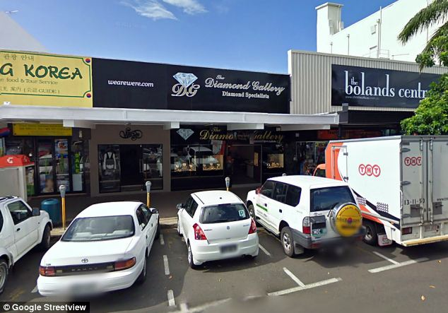 The man allegedly stole the gem from The Diamond Gallery (pictured) in Cairns, Queensland