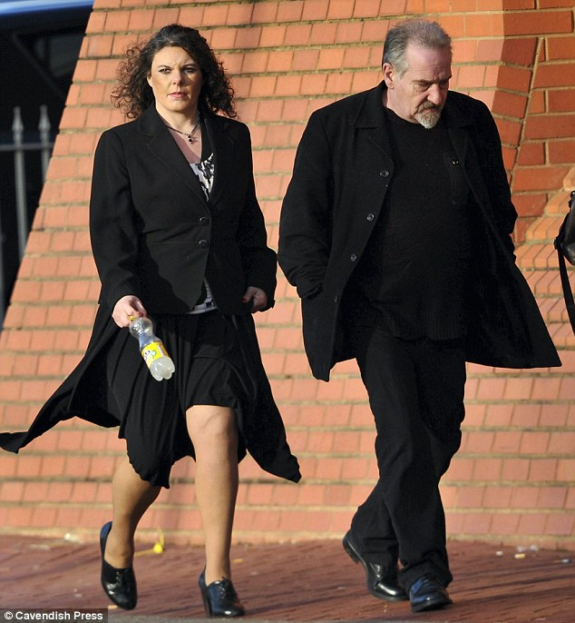 Dog owners: Unemployed Peter Higgins and Ann Warren who were banned from keeping dogs for life
