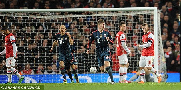 No chance! A Toni Kroos-inspired Bayern comfortably beat the Gunners 2-0 in the Champions League