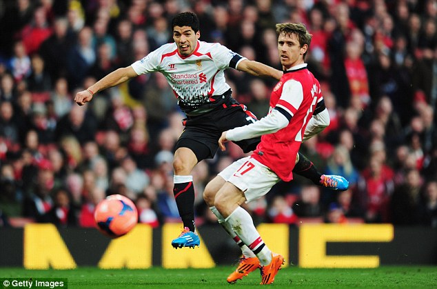 Tough loss: Suarez and Liverpool lost to Arsenal in the FA Cup last weekend