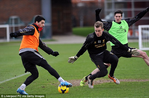 Finishing practice: And he looks to get the beating of Simon Mignolet and Martin Kelly
