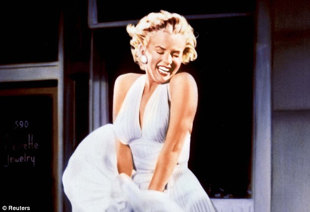 'Breathy' voices in women, typified by Marilyn Monroe, pictured, were seen as more attractive among men. The breathy tone, caused by younger and thinner vocal cords, implied youthfulness and health. Whereas a creaky voice, suggesting a person has a cold, is tired or smokes, is unattractive
