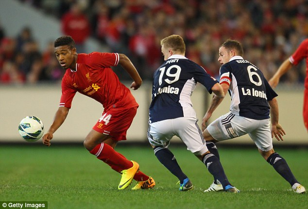 Wonderkid: Ibe featured regularly for Liverpool in their pre-season matches last summer