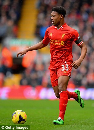Charging forward: Ibe playing against Arsenal this month at Anfield