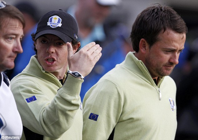 Looking down: Despite another incredible European victory, McDowell was not himself all week