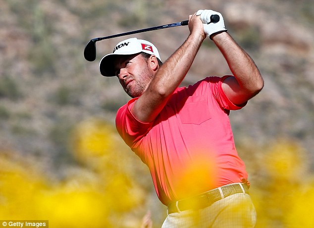 Last man standing: McDowell is the final UK player left in Arizona after defeats for the likes of Rory McIlroy