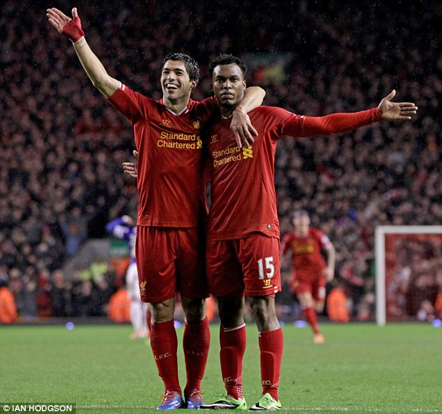 Dynamic duo: Luis Suarez and Daniel Sturridge have been prolific for Liverpool this season and have put their team within touching distance of a Champions League place