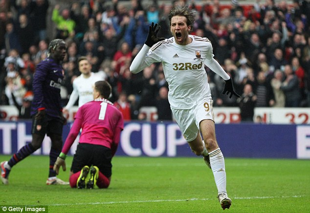Road to recovery: Michu has been sidelined following ankle surgery since December 2013