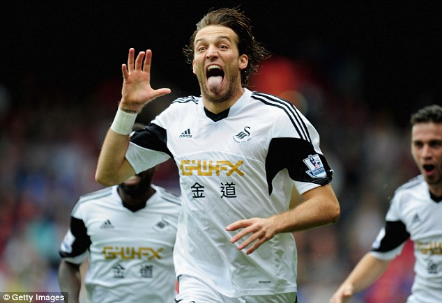 Setting tongues wagging: Big spending Russian club Anzhi are considering a move for Swansea's Michu