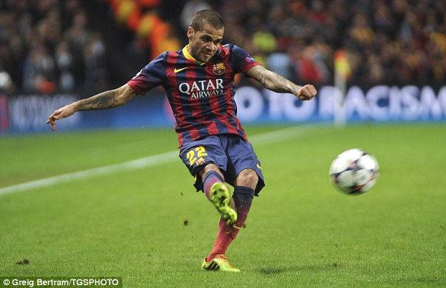 Alves scored his first goal since September against Manchester City