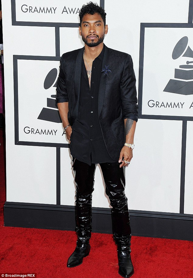 Taking responsibility: Miguel, pictured here at the Grammys in January, pled 'no contest' to driving under the influence