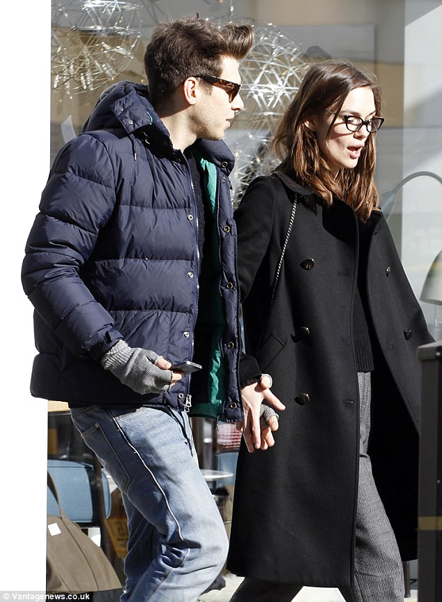 Keira Knightly and husband James Righton spotted out furniture shopping in trendy North London today