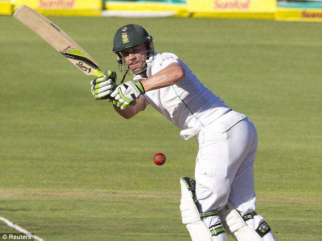 On top: AB De Villiers stretched Amla's lead with Amla before falling for 24, a failure by his lofty standards