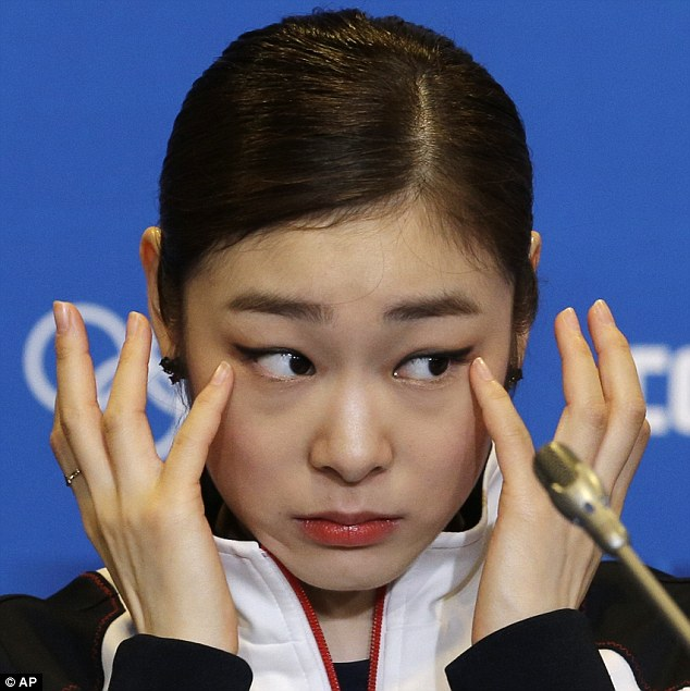 Stoic: Kim did not question the judges' scoring of her program at the press conference following the figure skating finals