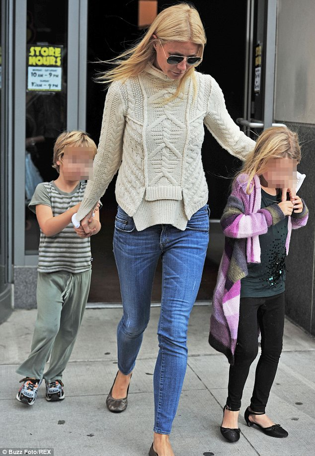 Future music stars? Moses wants to be a rapper while his sister Apple is hoping for a career in indie rock, according to their mother Gwyneth