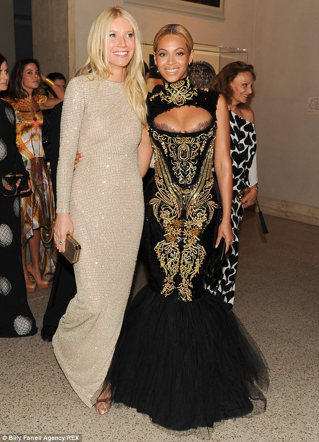 BFFs: Gwyneth and Jay-Z's wife Beyonce Knowles have been close pals for years