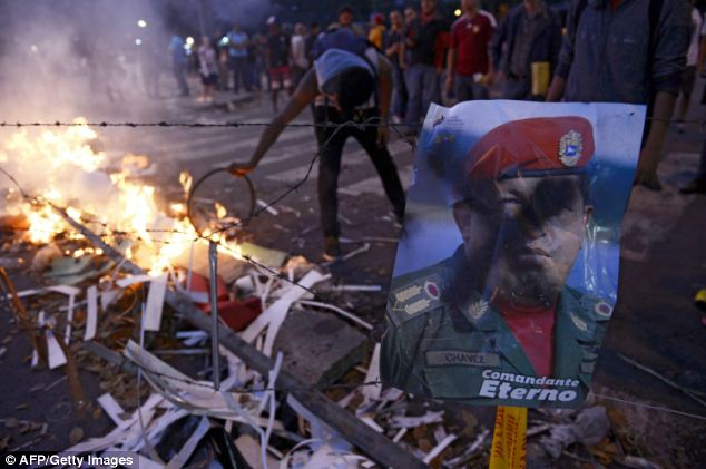 President Nicolas Maduro's leftist administration has threatened to cut off fuel to areas 'under fascist siege'
