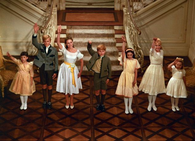 So long, farewell: Maria was portrayed in the musical hit by Louisa (second right), played by Heather Menzies