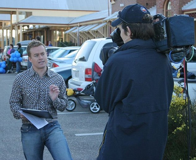 On air: Denyer shot to fame as Sunrise's fun-loving weather presenter