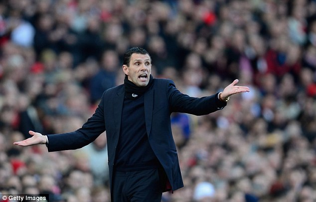 Bad day at the office: Sunderland manager Gus Poyet felt the players let themselves down as the Black Cats moved closer to the relegation zone