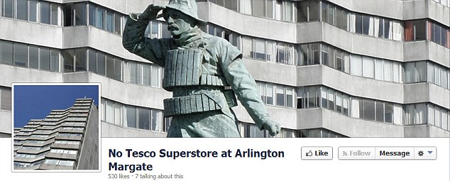 Spirited: Rival Facebook groups supporting and opposing the supermarket have sprung up