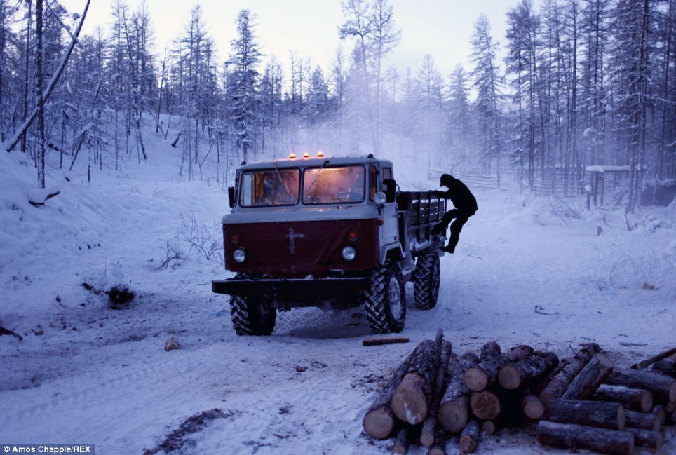 Company: One of the truckers who regularly stops off at Vladimir's hut to take a break from their journey is his brother Alexei Bagadaev