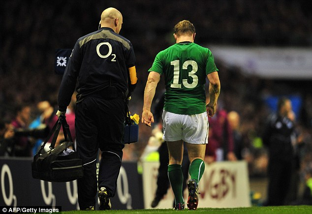 End of an era: The Twickenham game saw the end of Brian O'Driscoll's distinguished international career