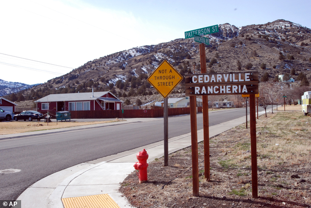 This Feb. 21, 2014 photo shows the entrance to the Cedarville Rancheria, in Cedarville, Calif