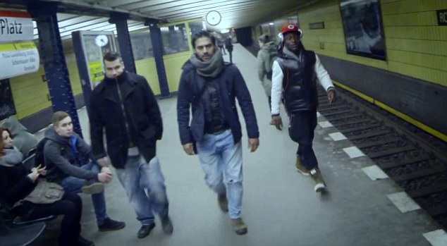 In the video the couple are bashed by a group of men at a train station, which is reflective of some of the violence and stigmatisation that gay individuals face in Iran