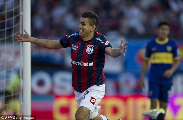 Wanted: San Lorenzo youngster Angel Correa is being tracked by many of Europe's top clubs