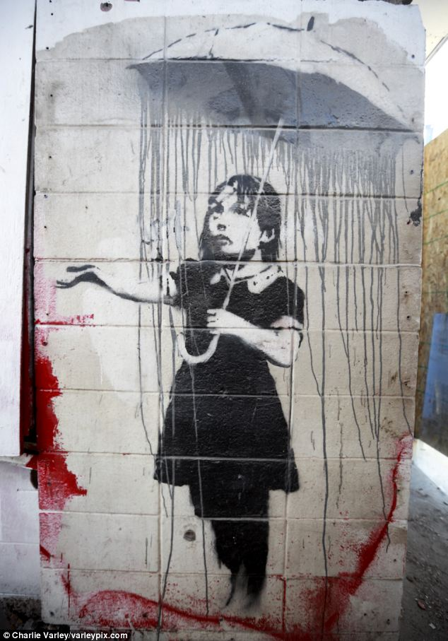 In demand: As the value of Banksy works have spiraled - with one selling for $1.8m - thieves have increasingly targeted the art